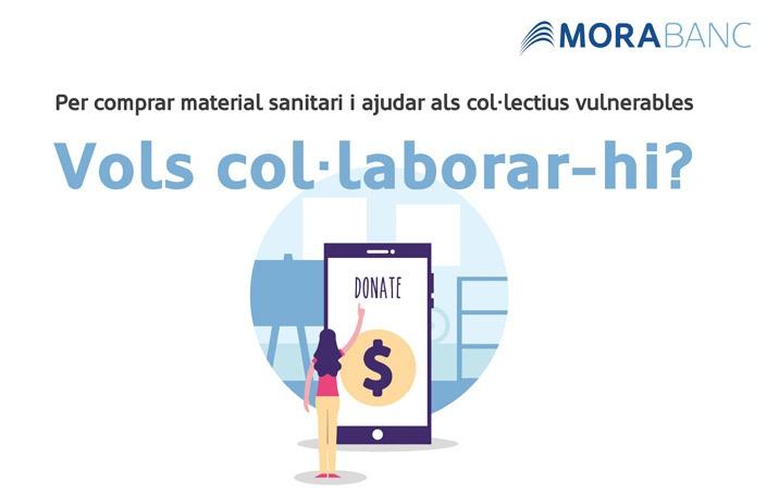 MoraBanc col·labora amb 100.000€ al fons de solidaritat