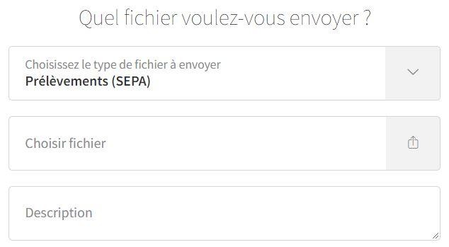 Envoi de fichiers SEPA Direct Debit