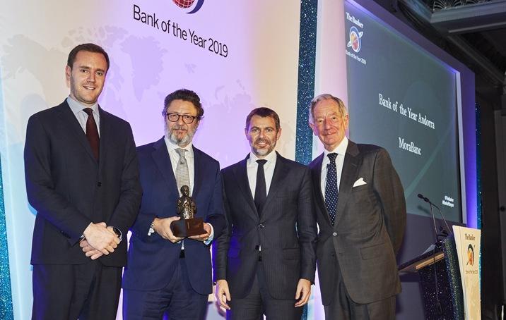 MoraBanc, Banco del Año en Andorra por segundo año consecutivo