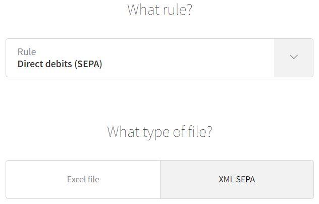 Import direct debit SEPA Direct Debit
