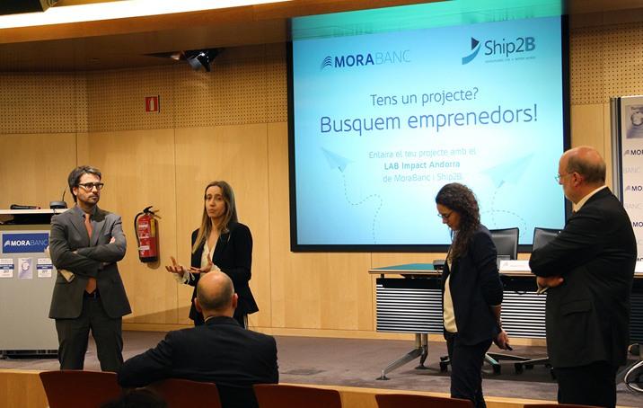 Tres projectes seleccionats per al programa d'emprenedors de MoraBanc i Ship2B
