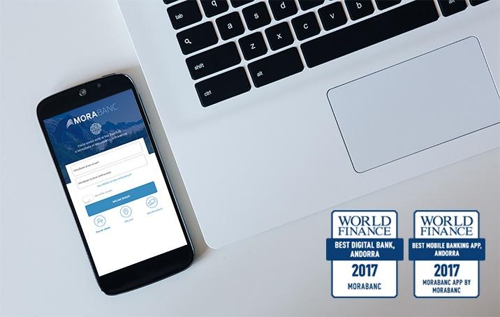 La banca digital de MoraBanc  rep dos premis internacionals