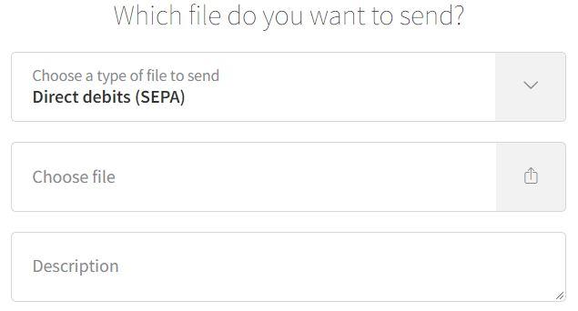 Send file SEPA Direct Debit