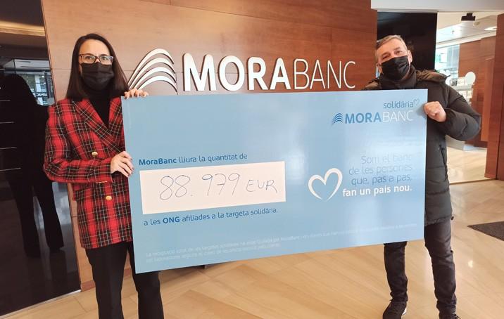 La targeta solidària de MoraBanc recull 88.979€ per a 21 entitats socials d'Andorra