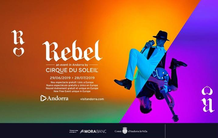 MoraBanc, patrocinador principal d'Andorra per a l'espectacle Rebel, del Cirque du Soleil