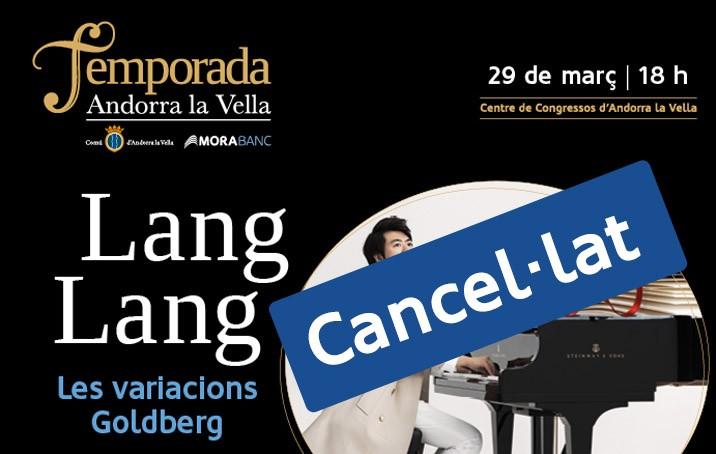 El concert de Lang Lang a la Temporada queda cancel·lat