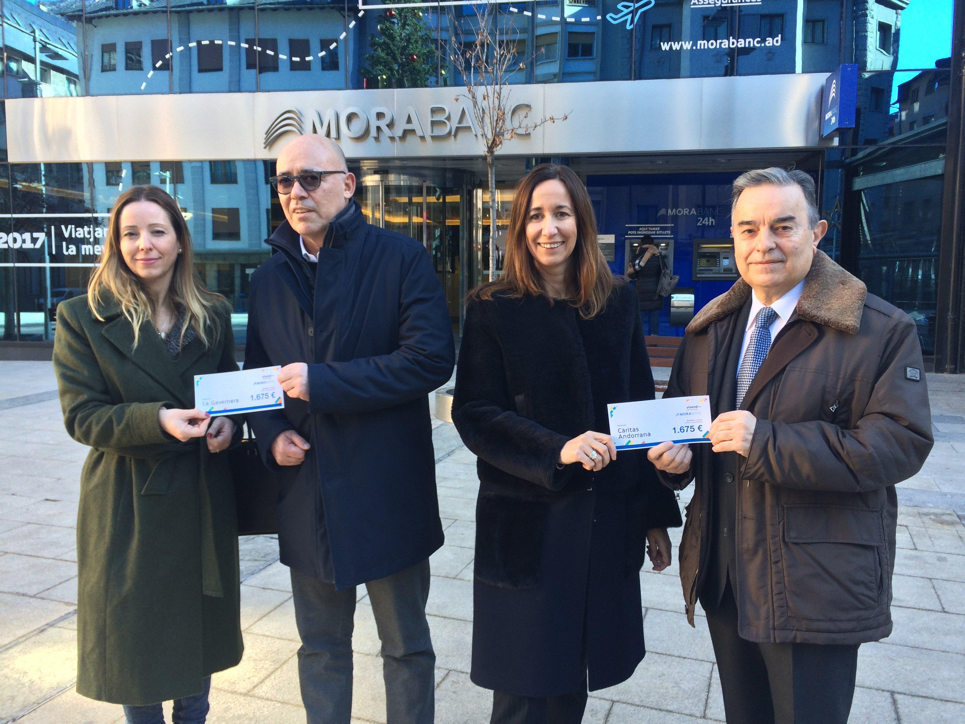 """MoraBanc i Vivand recapten 3.350€ a la segona edició de """"Vivand Solidari"""""""