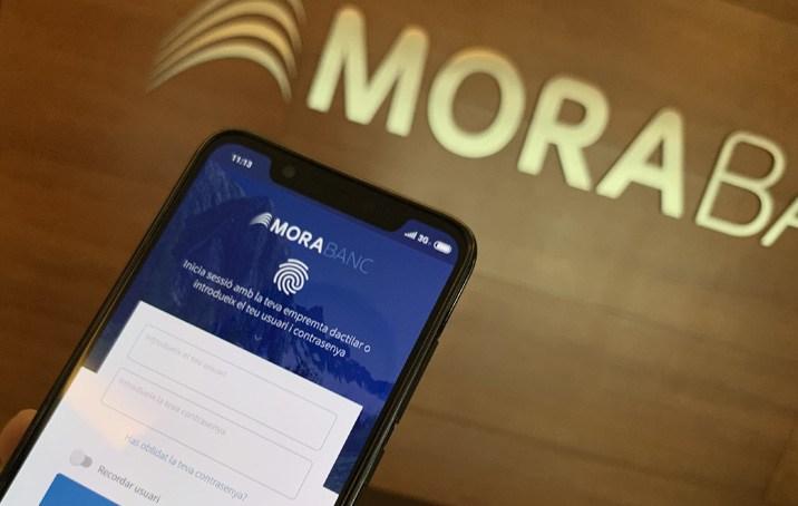 El mòbil és ja l'opció preferida pels clients digitals de MoraBanc